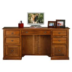 Coastal Customizable Double Pedestal Desk | from hayneedle.com