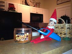If you haven't heard of elf on the shelf , it is basically an elf sent from the North Pole who watches the kids during the day and reports b...