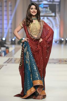 Uzma Babar Telenor Bridal Couture Week 2014 Shehnai Collection