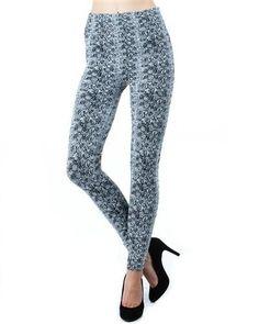 Printed Fleece Leggings