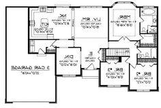 Spacious Ranch Home (HWBDO10658) | Ranch House Plan from ...