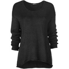 Mona knitted sweater 19.95 EUR ($23) ❤ liked on Polyvore featuring tops, sweaters, shirts, long sleeves, shirt top, long sleeve tops, long sleeve sweater, shirt sweater and long sleeve shirts
