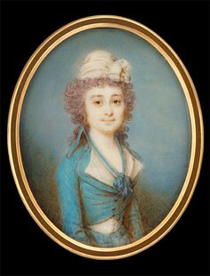 Lady in Light Blue Gown (Riding Habit)