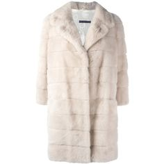 Simonetta Ravizza 'Barc' fur coat (216.935 RUB) ❤ liked on Polyvore featuring outerwear, coats, white, simonetta ravizza, white coat, white fur coat and fur coat