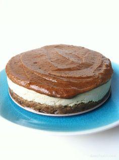 Caramel Blondie Brownie Cheesecake (Vegan/Raw)