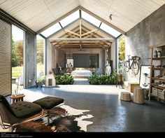 industrial design #bedroom   rendering -Tharik Mohammed