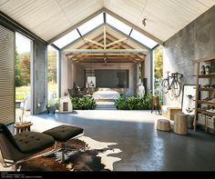 industrial design #bedroom | rendering -Tharik Mohammed
