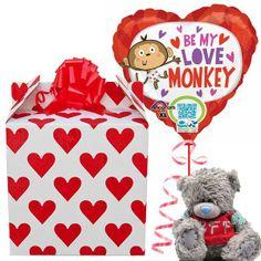 Love Monkey Balloon QR and BFF Tatty Teddy | £19.99 | www.ValentinesGift.co.uk