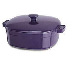 Shop for KitchenAid Plum Zen Cast Iron Streamline Casserole Cookware. Get free delivery On EVERYTHING* Overstock - Your Online Kitchen & Dining Outlet Store! Cast Iron Cookware, Cookware Set, Kitchenaid, Kitchen Gadgets, Kitchen Appliances, Kitchen Stuff, Kitchen Tools, Kitchen Ideas, Kitchen Design