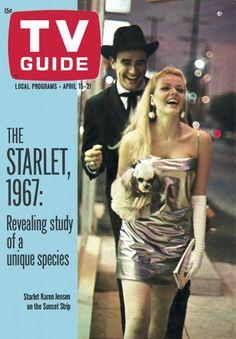 TV Guide: April 15, 1967 - Scarlet Karen Jensen on the Sunset Strip