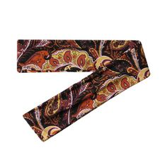 Burnt Orange Paisley Print Scarf Headband