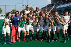 SA Men's Hockey Team Celebrate their Olympic Qualifying win in Japan 2012 Field Hockey, World Of Sports, Hockey Teams, Olympic Qualifying, Olympics, Basketball Court, African, Japan, In This Moment