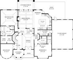images about Big house floorplans  on Pinterest   House    European Style House Plans   Square Foot Home  Story  first floor