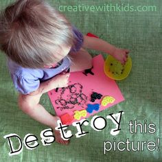 Destructive Artsy Things to Do with Toddlers - rip and tear!