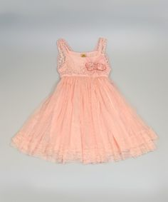 Love this Mia Belle Baby Pink Crocheted Bodice Tulle Dress - Toddler & Girls by Mia Belle Baby on #zulily! #zulilyfinds