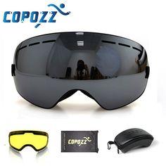 cd015f5499f Comprar COPOZZ marca gafas de esquí capa 2 lente anti-niebla UV400 día y  noche esférica snowboard gafas de las mujeres de los hombres de esquí nieve  gafas ...