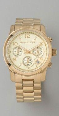 fa26d7575bc Michael Kors Jet Set Sport Watch in Gold