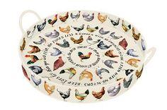 Large Tray Chickens - Nieuw! - Pine-apple - Importeur Emma Bridgewater