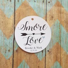 Smore Love Tag Winter Wedding Rustic Wedding by BWPartyPrintables