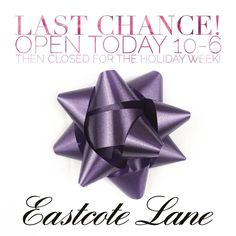 One more day of shopping Eastcote! Stop in today and take 20% off all holiday decorations or find that last special gift  Eastcote Devon will be closed for the week between xmas and new years! Cape May and Kennett Square will be open Happy holidays from Eastcote!  #holidayhours #lastchance #holidayshopping #devonpa #eastcotedevon #vintageshop #eastcotelane