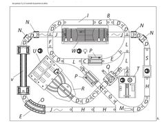 Toys R Us Imaginarium City Train Table Layout. Full Instructions can be found at http://thomasthetrain.net/images/imaginarium-city-central-train-table-instructions.pdf