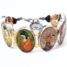 Pulsera oval kokeshis Klimt