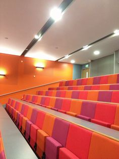 Murray Library Lecture Theatre - my trade mark use of colour keeps the students awake! #UoS