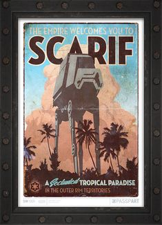Scarif was a relatively small world, made up of tropical volcanic island chains rising from the clear, shallow oceans. The planets mantle filled with dense metals, making it valuable in starship construction. However, its astrographical situation in the remote Outer Rim Territories rendered