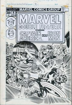 Marvel Double Feature #18 Cover By Jack Kirby