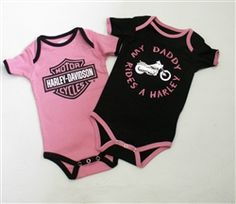 Harley-Davidson clothes for baby girls. My daddy rides a Harley