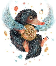 """Beast's Treasure"" by ManuelDA A Niffler with a snitch Inspired by Fantastic Beasts and Where to Find Them and Harry Potter Harry Potter Tattoos, Harry Potter Fan Art, Harry Potter Drawings, Harry Potter Universal, Harry Potter Fandom, Harry Potter Memes, Harry Potter World, Hogwarts, The Beast"