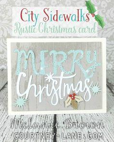 City Sidewalks Rustic Christmas card