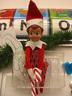Elf on the Shelf used in a first grade classroom, how cool! Writing letters?