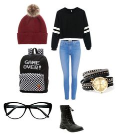 """""""Untitled #24"""" by zain-mjalli on Polyvore featuring Paige Denim, Helen Moore and Vans"""