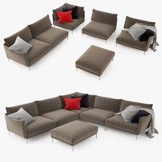 Moroso Gentry Sofa 3D Model - 3D Model