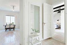 Limed floorboards