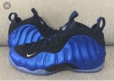 Nike Air Foamposite One XX Royal Anniversary. The Nike Air Foamposite One XX Royal celebrates the Anniversary to release in January Foams Shoes Nike, Nike Air Shoes, Sneakers Nike, Sneakers Women, Retro Sneakers, Boys Shoes, Me Too Shoes, Men's Shoes, Tenis Basketball