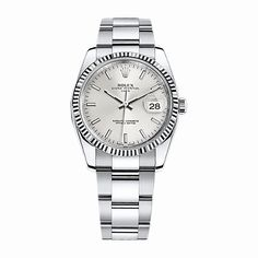 #Rolex Date White Gold & Stainless Steel #Watch (#Silver)