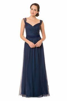 d01fdca3ba9f Cocktail Fest Gulvlengde Rosa Selskapskjoler barn Navy Blue Bridesmaid  Dresses