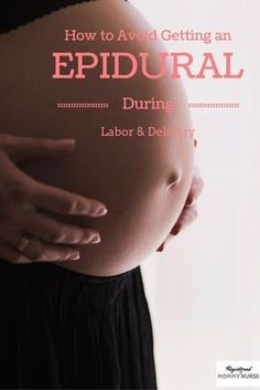 Do you want to avoid an epidural during the birth of your baby? Check this out to find out how :)