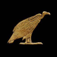 Gold vulture amulet      Nubian, Napatan Period, reign of Atlanersa, 650 B.C.