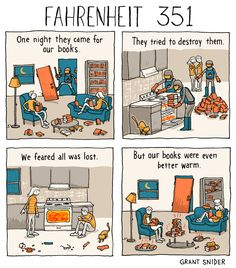 "incidentalcomics: "" Fahrenheit 351 (After Ray Bradbury) """