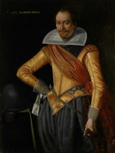 Portrait of a Captain with the Surname Ripperda, Anonymous, c. 1615 - c. 1620