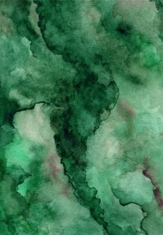 Dark Green Abstract Watercolor Texture Background