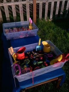 Bug and garden sensory bins
