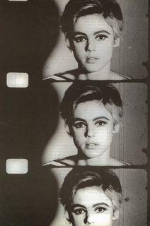 Edie Sedgwick portrait in a 16mm segmented film - Andy Warhol