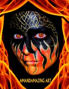Oooh black and flamey facepaint
