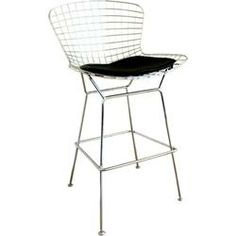Grid style seating and a slim metal framework give the Baxton Studio Bertoia Style Wire Barstool - Set of 2 its modern edge. A comfortable black leatherette. Wire Bar Stools, Contemporary Bar Stools, Modern Contemporary, Modern Design, Classic Bar, Affordable Modern Furniture, Counter Height Stools, Baxton Studio, Bar Furniture