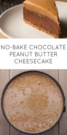 No bake chocolate peanut butter cheese cake