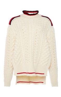 Medium isabel marant off white edison short aran knit jumper